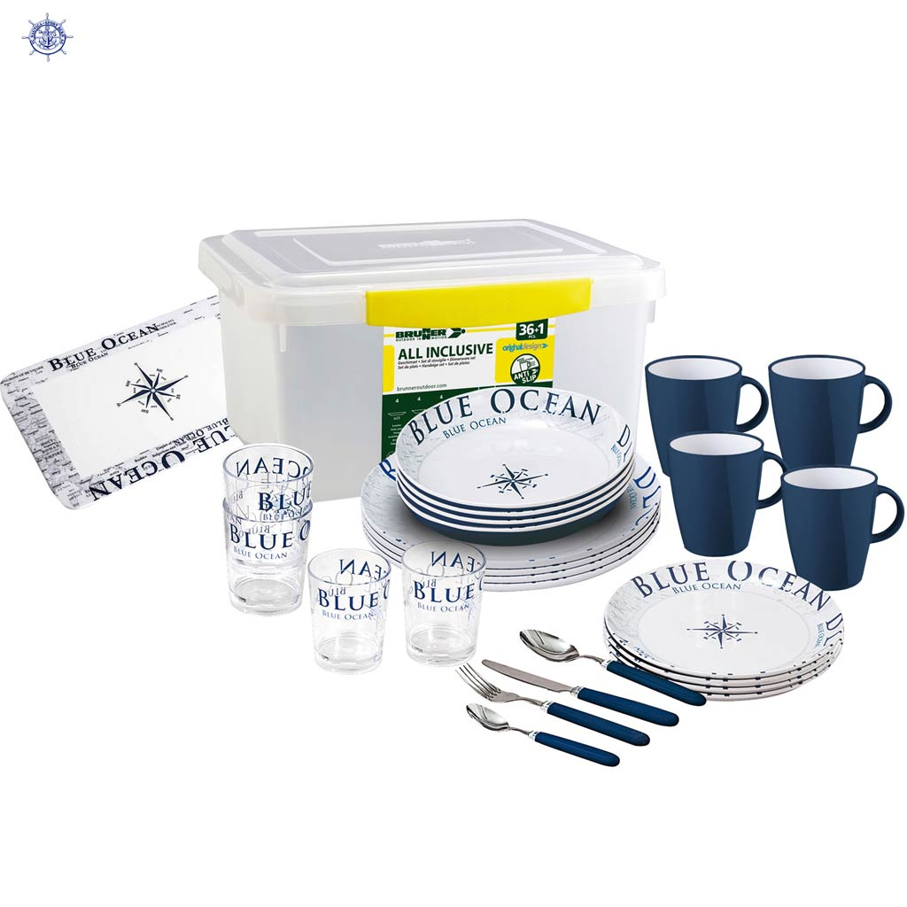 Geschirrbox Blue  Ocean Set 36 teilig